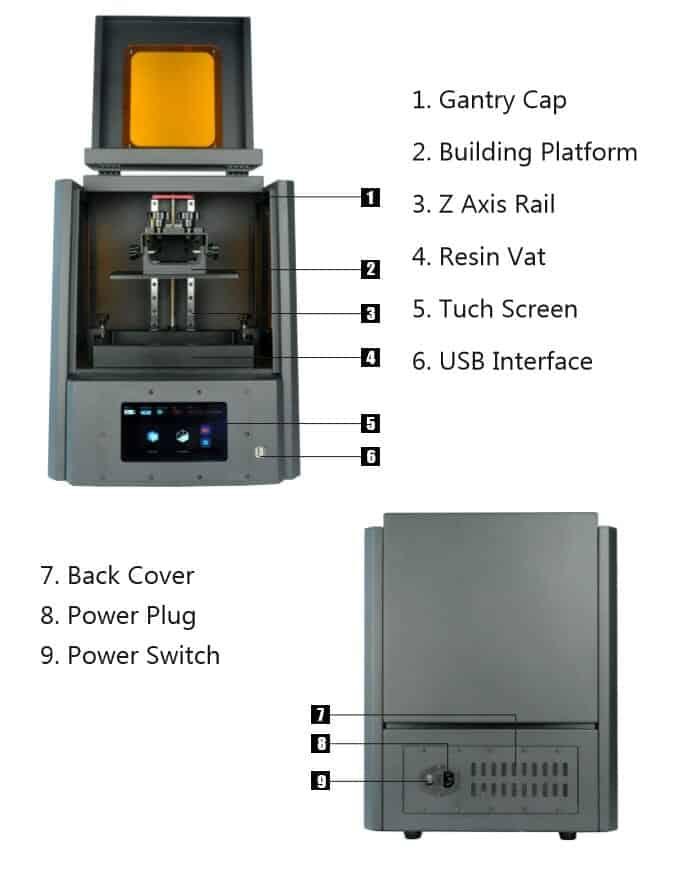 DLP (Digital Light Processing) LCD 3D Printer