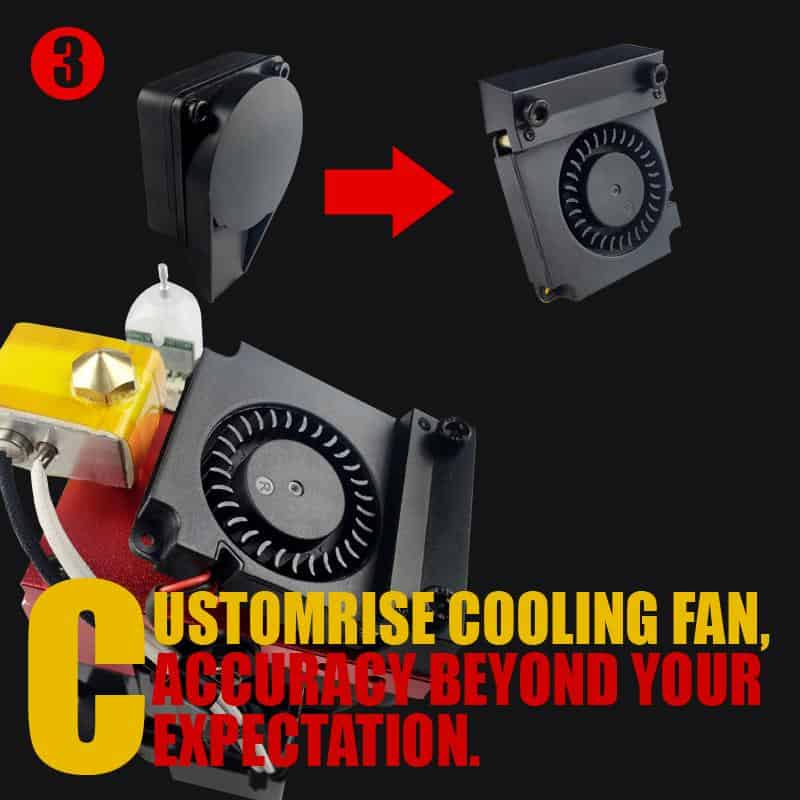 Customized cooling fan for more accuracy