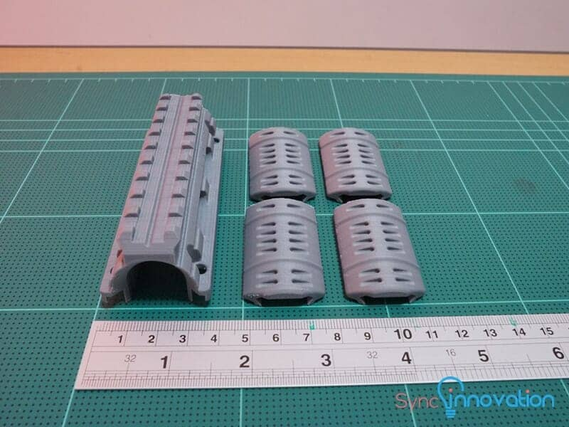 abs sample from 3d printing