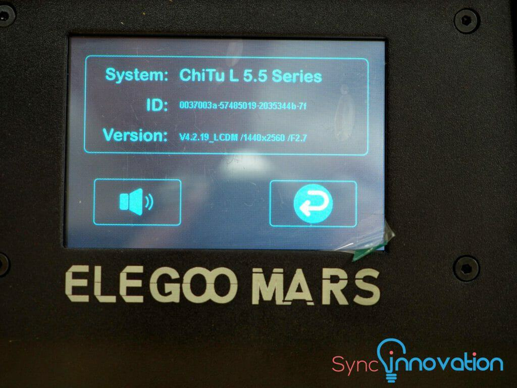Elegoo Mats Display info