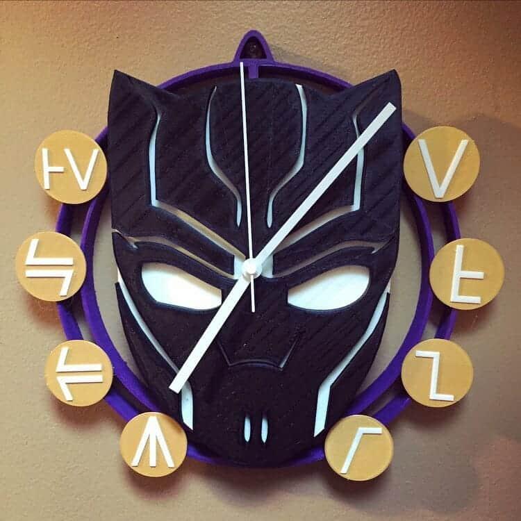 Kaleidoscope Marvel Clock 3d printed