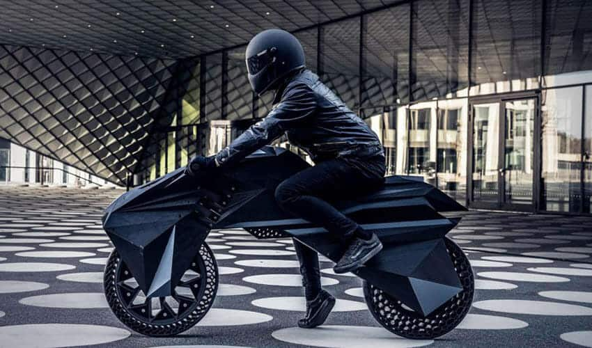 NERA; A fully 3D printed electric motorcycle