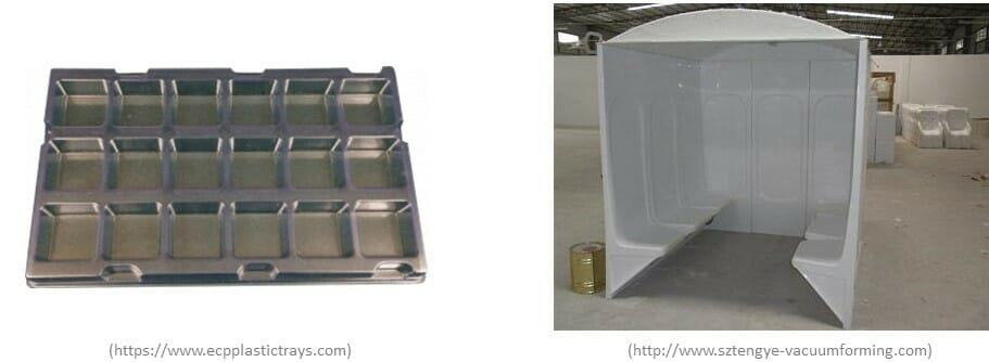 product by vacuum forming