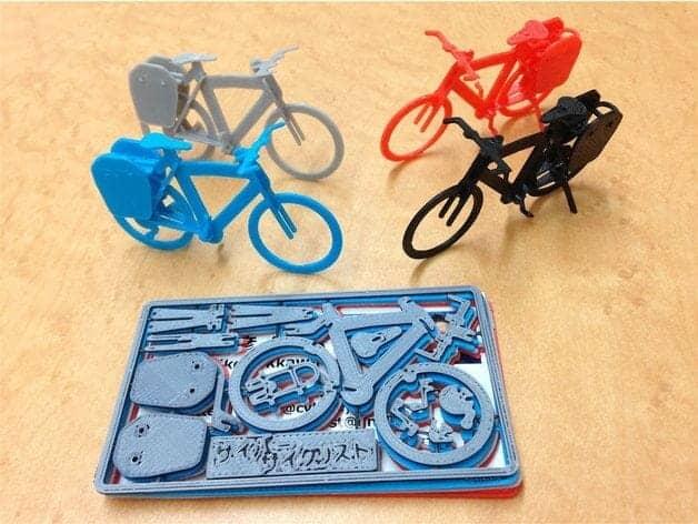 touring bike plastic model 3d printing