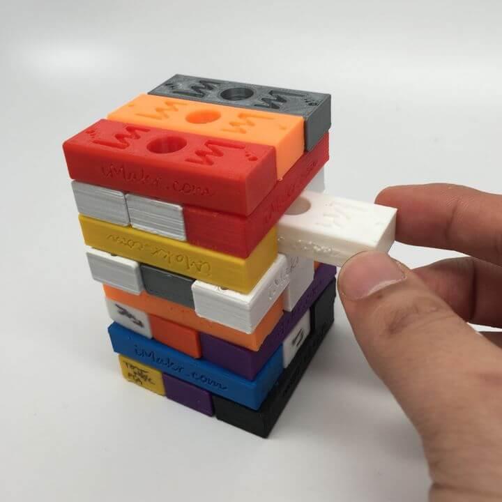 3D Printable iMakr Jenga calibration block