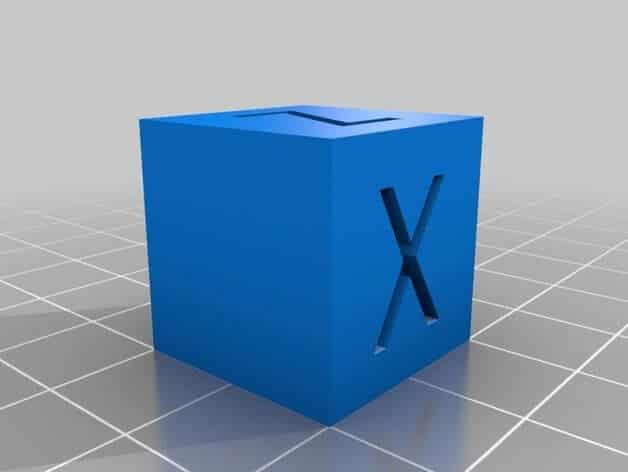 XYZ 20mm Calibration Cube