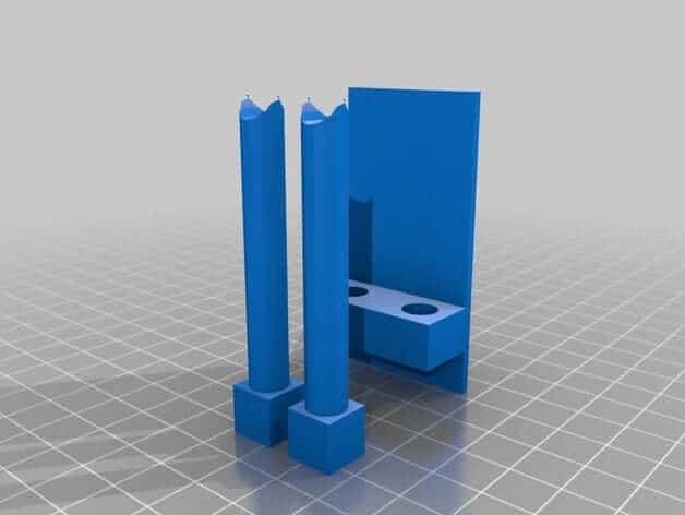 Z Axis Alignment Posts & Mounting Bracket 3D Model