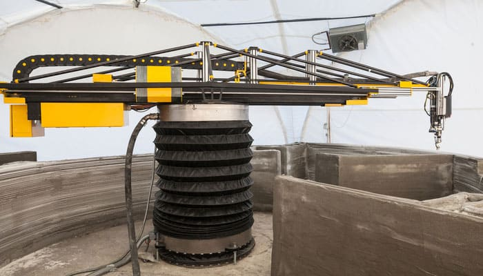 Apis Cor's 3d printer built a house in just 24 hours.
