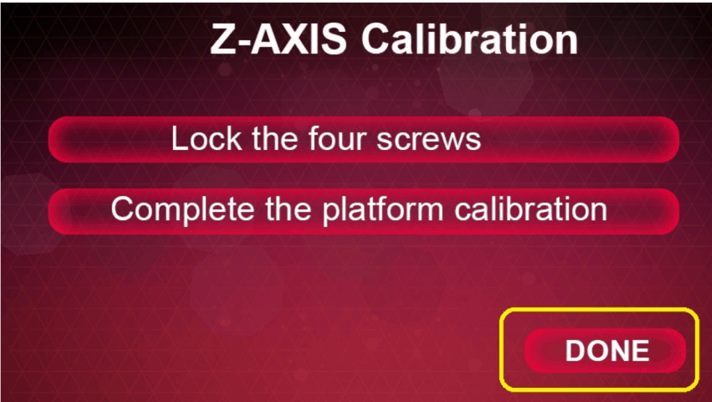 calibration เสร็จสิ้น