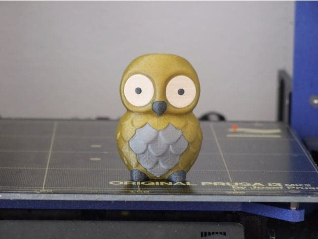 Owl multi-color 3d printing