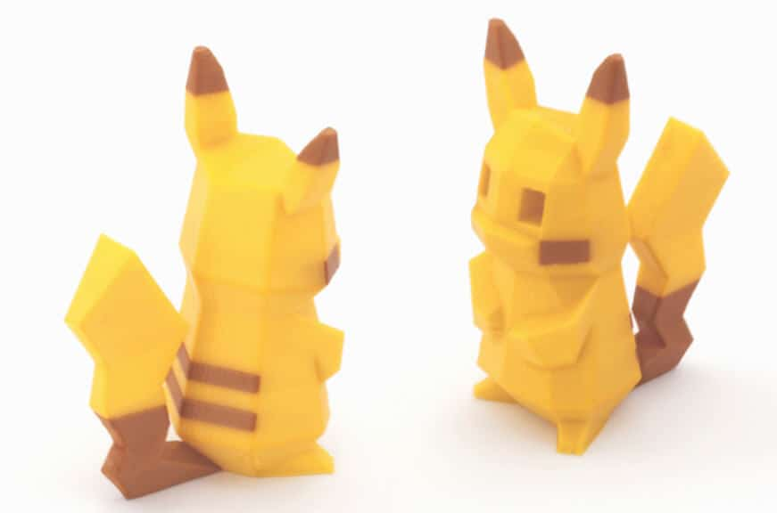 Pikachu Multi and Dual Extrusion