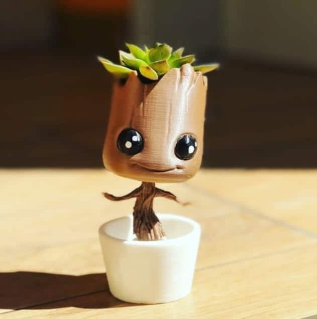 3d printing Baby Groot Flower