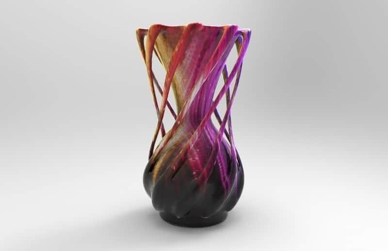 multi color-vase-3d printing