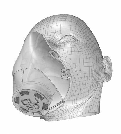 mask antimicrobial 3d printing