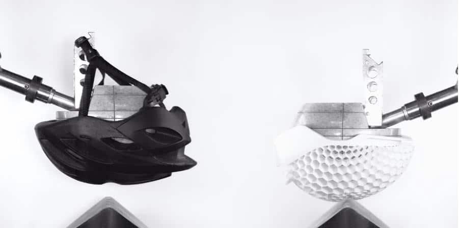HEXR helmet digital foam 3d printer