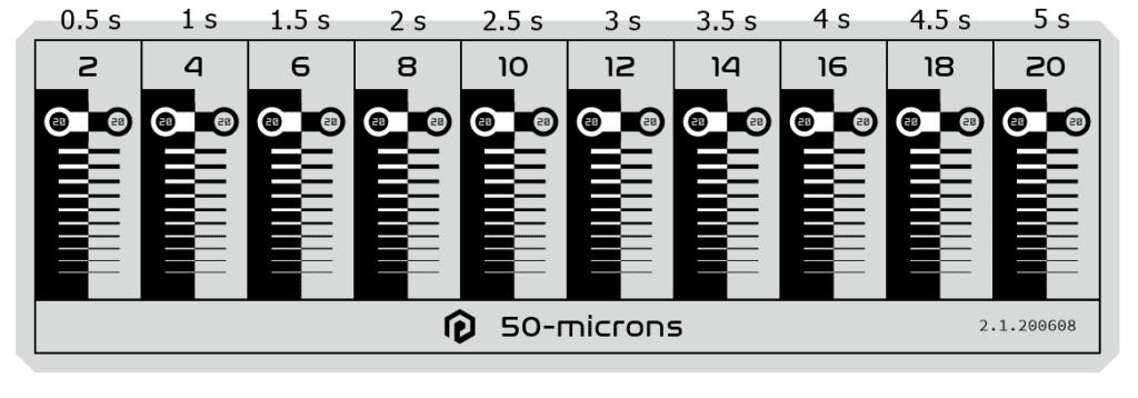 resin calibration card