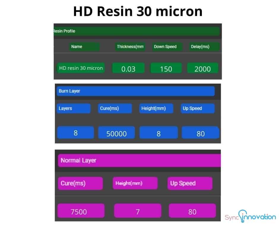 HD resin 30 micron